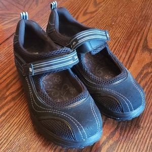 Black Skechers Shape-ups Mary Janes